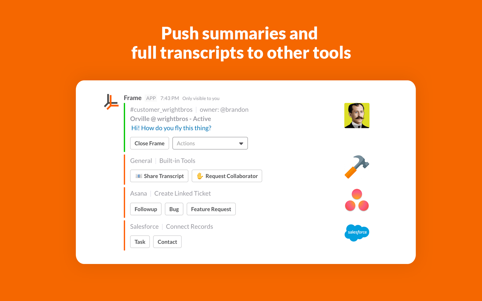 Push records to existing tools